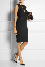 Dolce & Gabbana Lace-paneled cady dress