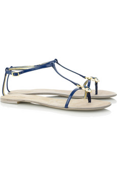 Roberto Cavalli Patent leather thong sandal