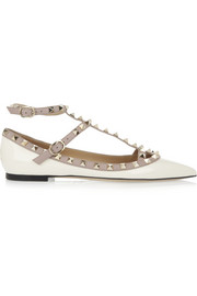 Valentino Studded patent-leather flats