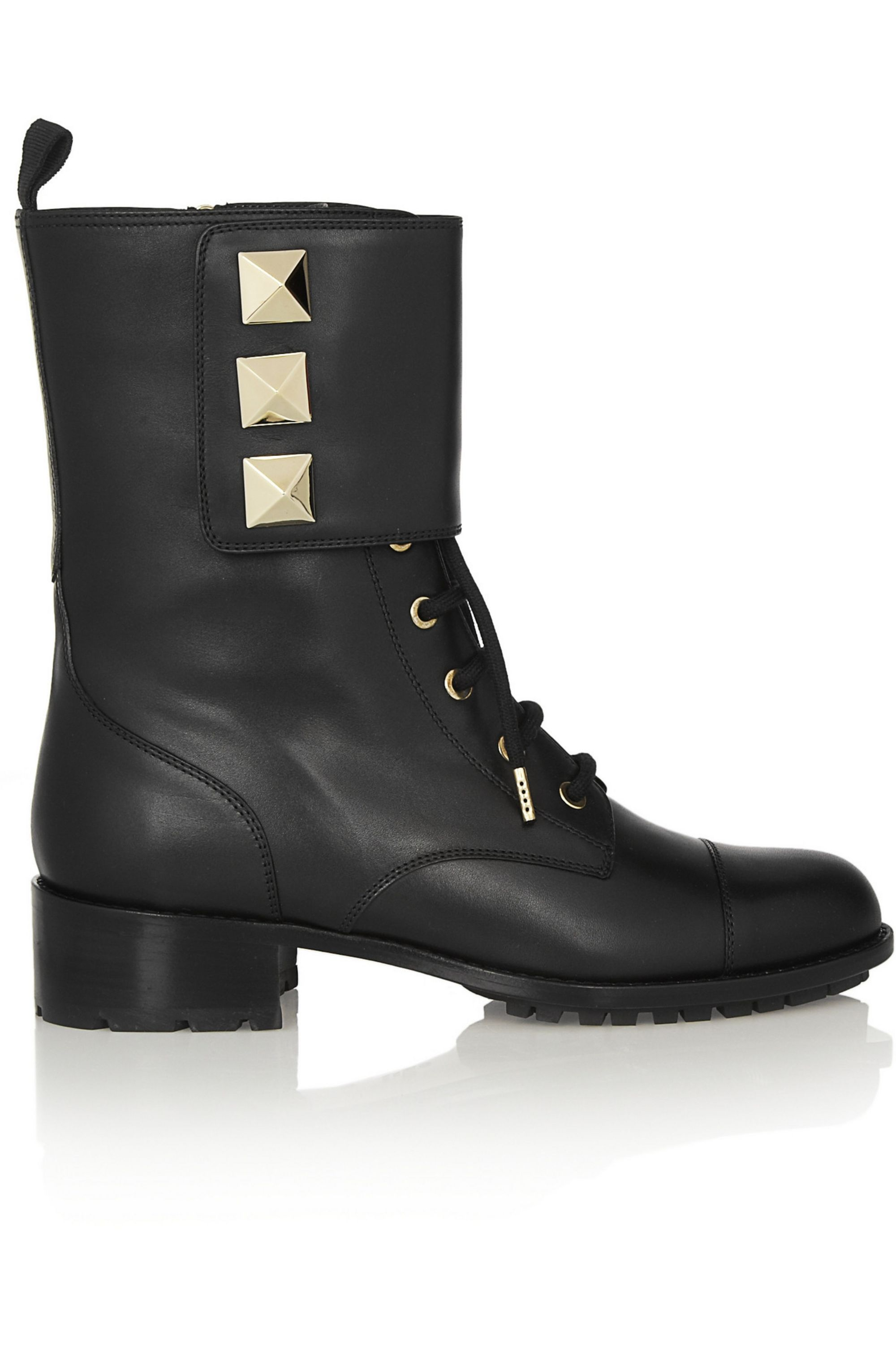 Valentino Studded leather army boots