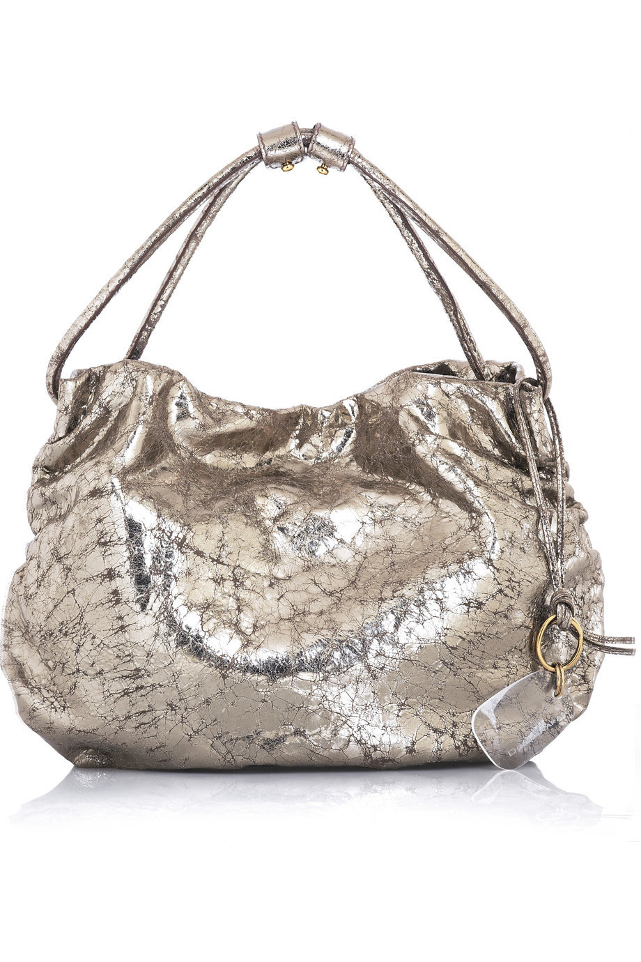 Donna Karan Metallic leather hobo | NET-A-PORTER.COM from net-a-porter.com