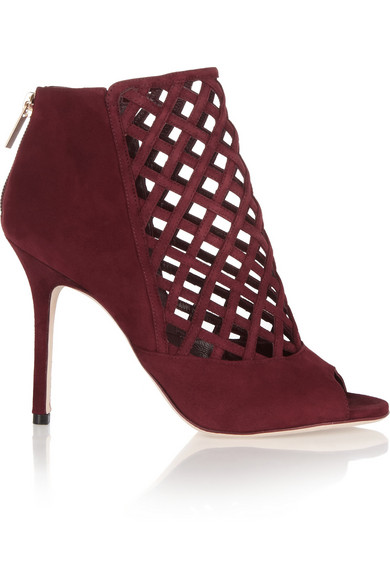 Jimmy Choo Drifted Woven Suede Cage Boots
