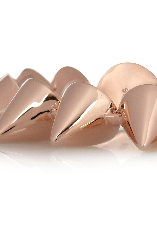Eddie Borgo Rose gold-plated cone bracelet