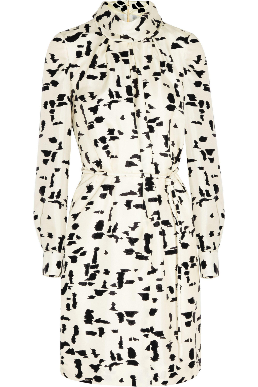 Chloé Printed silk-twill dress