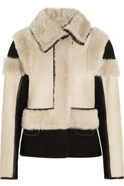 Reversible shearling and wool-blend felt jacket