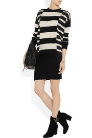 Stretch-cashmere tube skirt