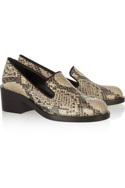 Stella McCartney Snake-effect faux leather loafers