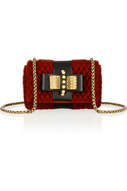 Sweet Charity Mini embellished velvet shoulder bag