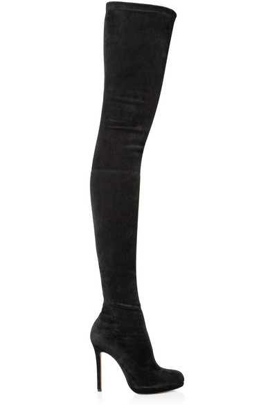 size 40 d4f41 4b24c Louise XI 120 stretch-suede over-the-knee boots