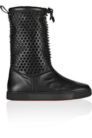 Christian Louboutin Surlapony Spikes shearling-lined leather boots