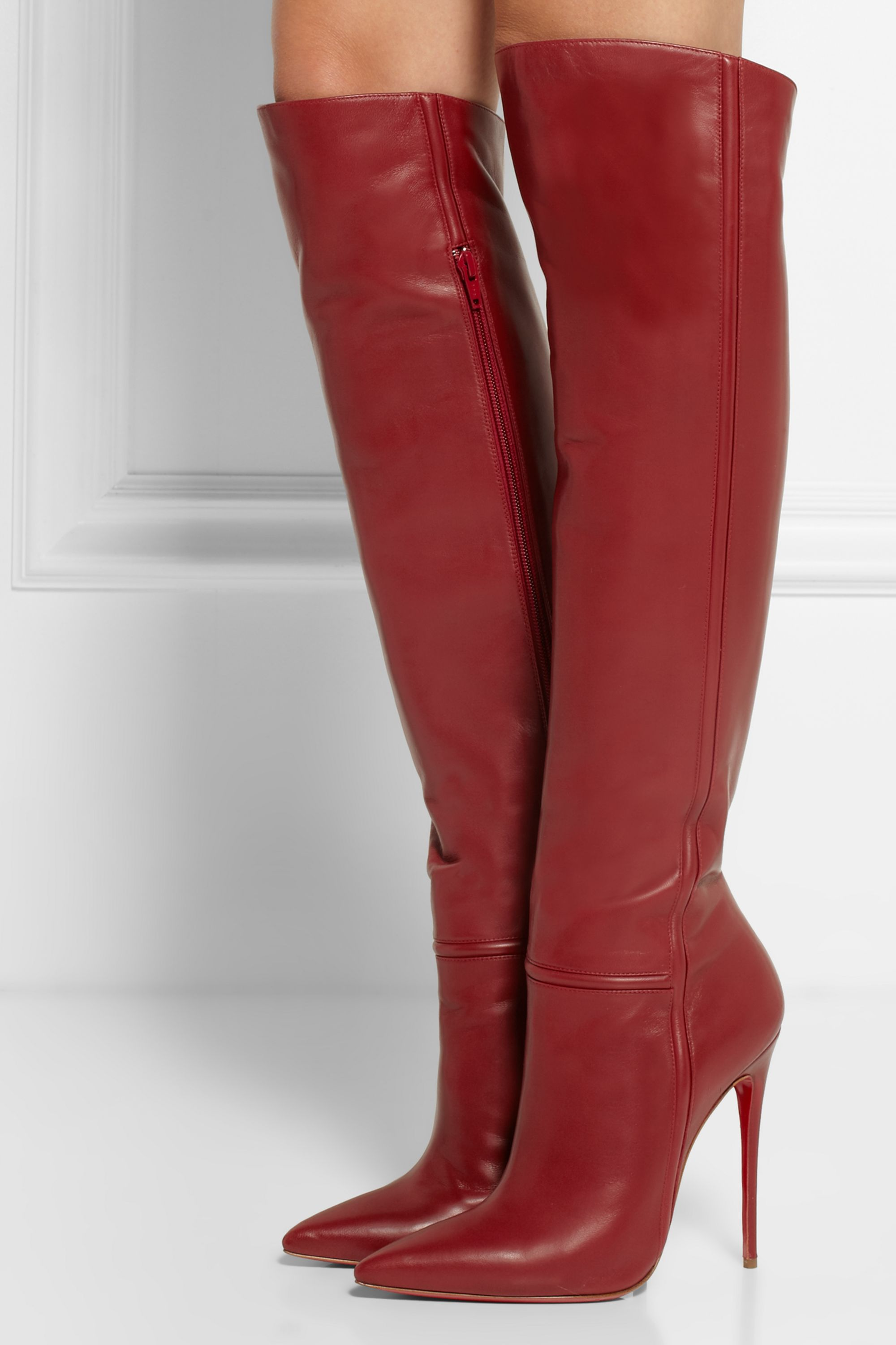 red louboutin boots