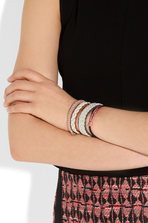 Maria Rudman Embroidered leather bracelet