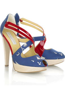 Stella McCartney Nautical platform sandal | NET-A-PORTER.COM from net-a-porter.com