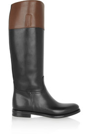 Martina two-tone leather riding boots