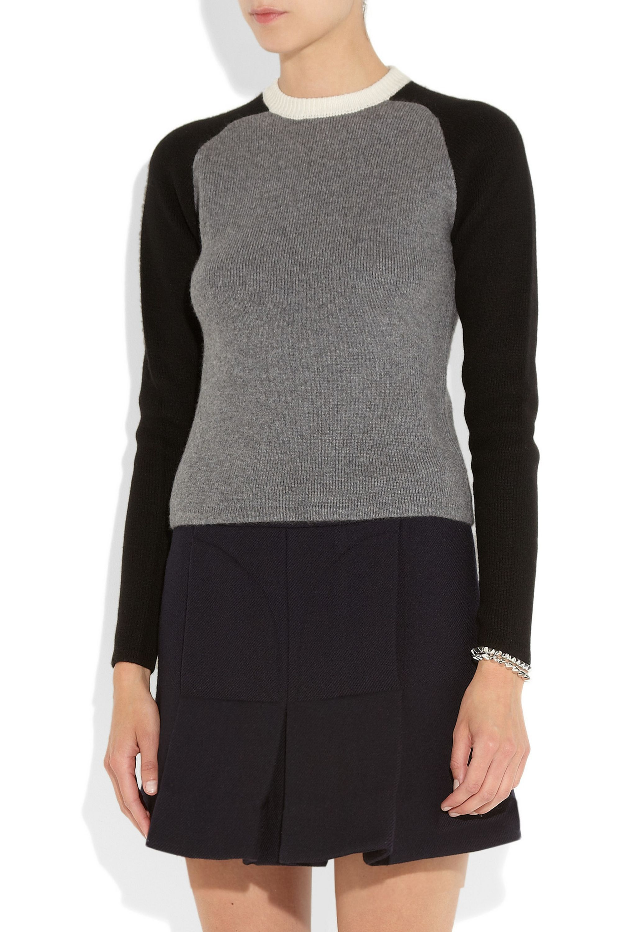 JW Anderson Color-block cashmere sweater
