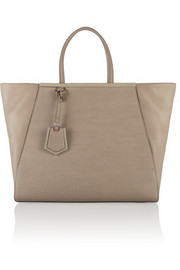 Fendi 2Jours large textured-leather shopper