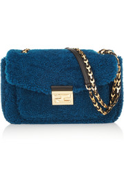 Fendi Be Baguette Mini shearling bag