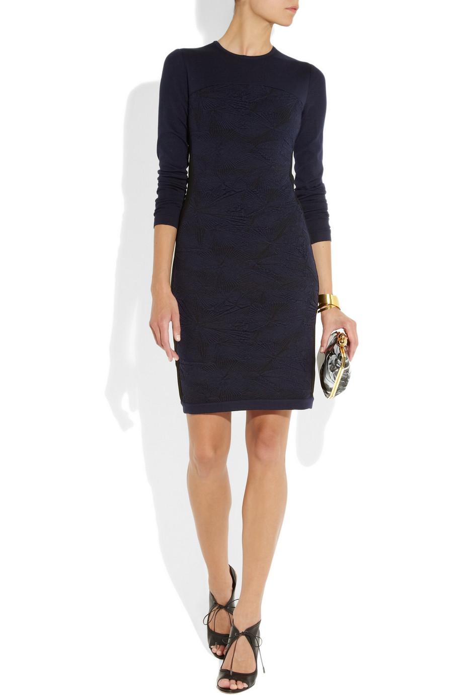 Fendi Jacquard-paneled Stretch-jersey Dress | Day to Night Dresses for Fall