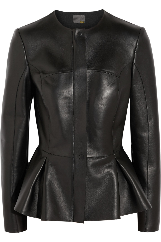 Fendi Leather peplum jacket