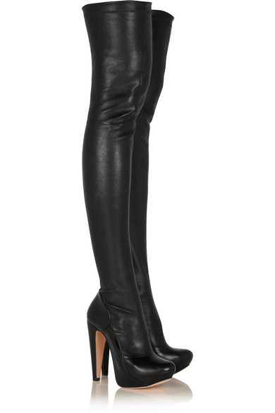 roland mouret motabor stretch leather the knee