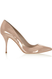 Sophia Webster Lola mirrored-leather pumps