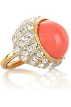 Kenneth Jay Lane Coral cocktail ring