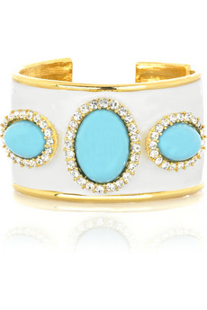 Kenneth Jay Lane Turquoise embellished cuff