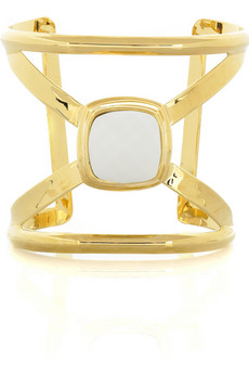 Kara by Kara Ross Gold plated X cuff