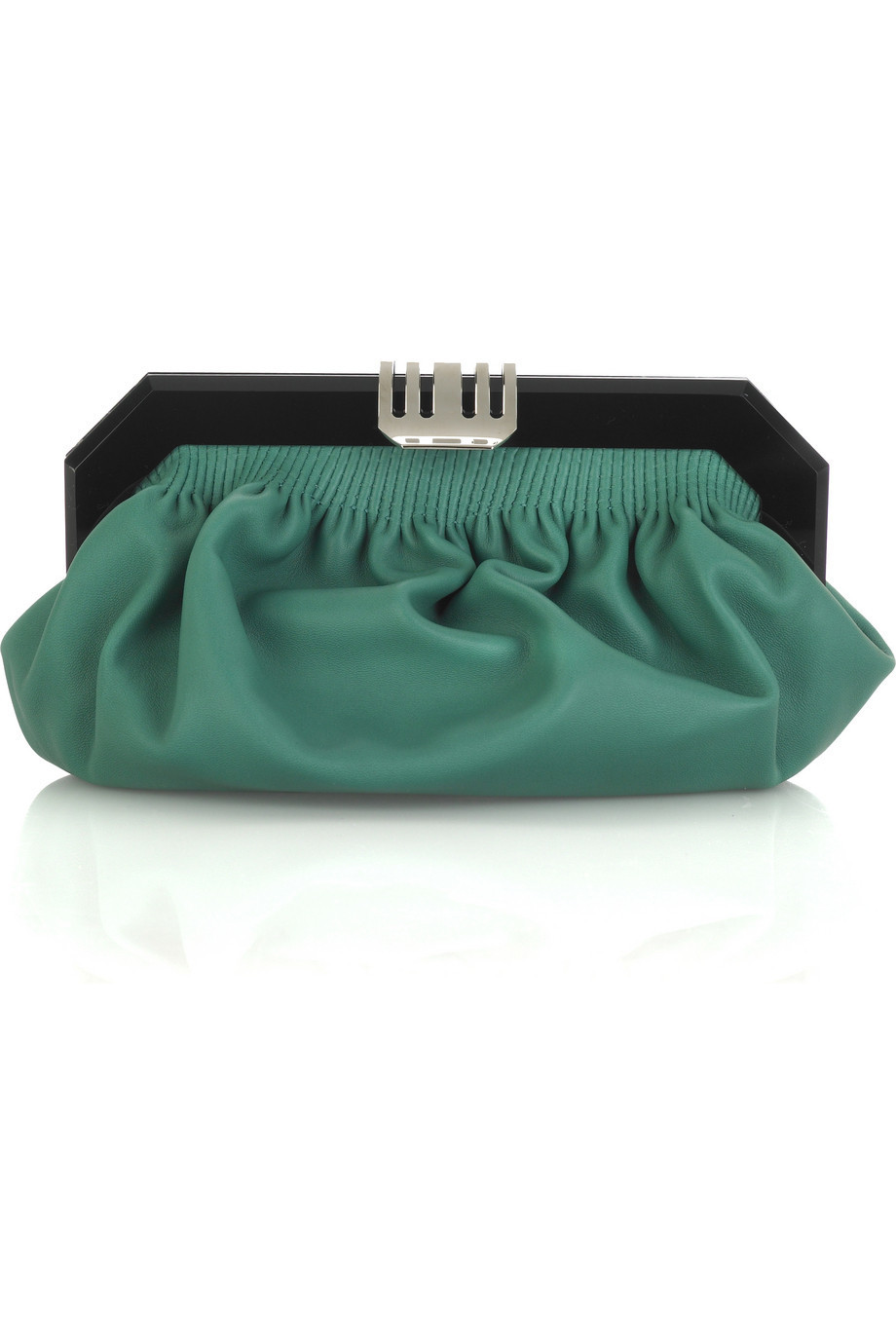 Marni Leather pouchette clutch  | NET-A-PORTER.COM from net-a-porter.com