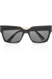 Roland Mouret Groucho square-frame silver-plated acetate sunglasses
