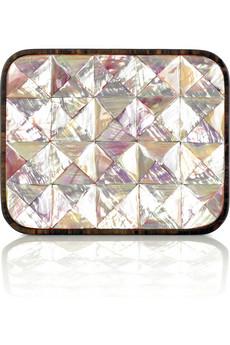 Celestina Abalone box clutch|NET-A-PORTER.COM from net-a-porter.com