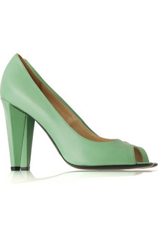 Marc by Marc Jacobs Leather peep-toe pumps