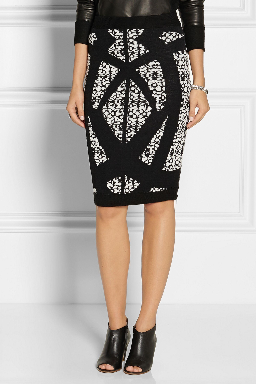 Dagmar Jenat patterned jacquard-knit pencil skirt