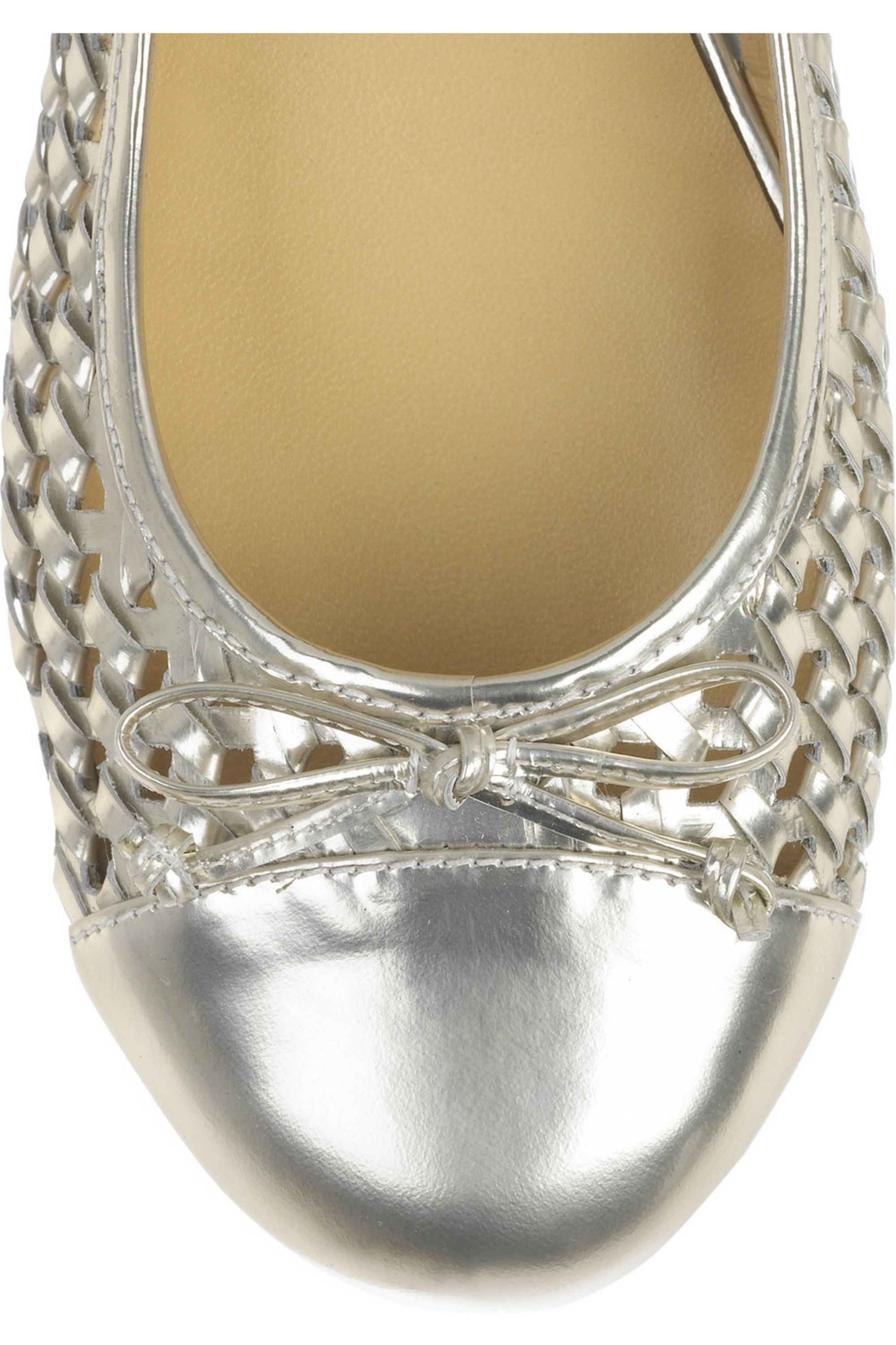 Marc by Marc Jacobs Woven leather ballet flats
