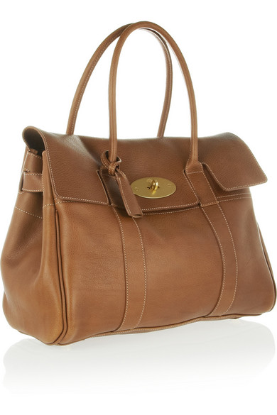 Mulberry | The Bayswater textured-leather bag