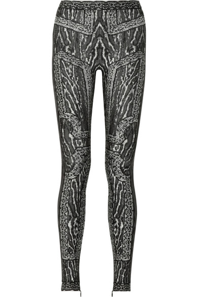 a93b254aa94f Hervé Léger. Animal-patterned bandage leggings