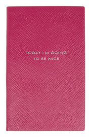 Today I'm Going To Be Nice textured-leather notebook