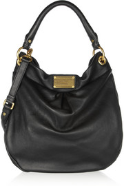 The Classic Q Hillier Hobo textured-leather shoulder bag
