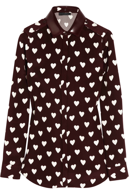 burberry heart blouse