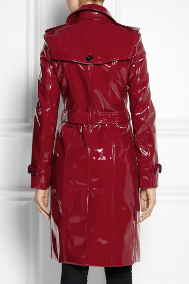Burberry Trench Coat En Vinyle Brillant Net A Porter Com