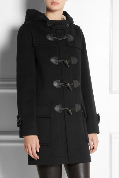 Burberry   Wool-felt duffle coat   NET-A-PORTER.COM