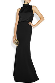 Victoria Beckham Crepe and matte-satin gown
