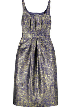 Moschino Cheap and Chic Metallic print dress