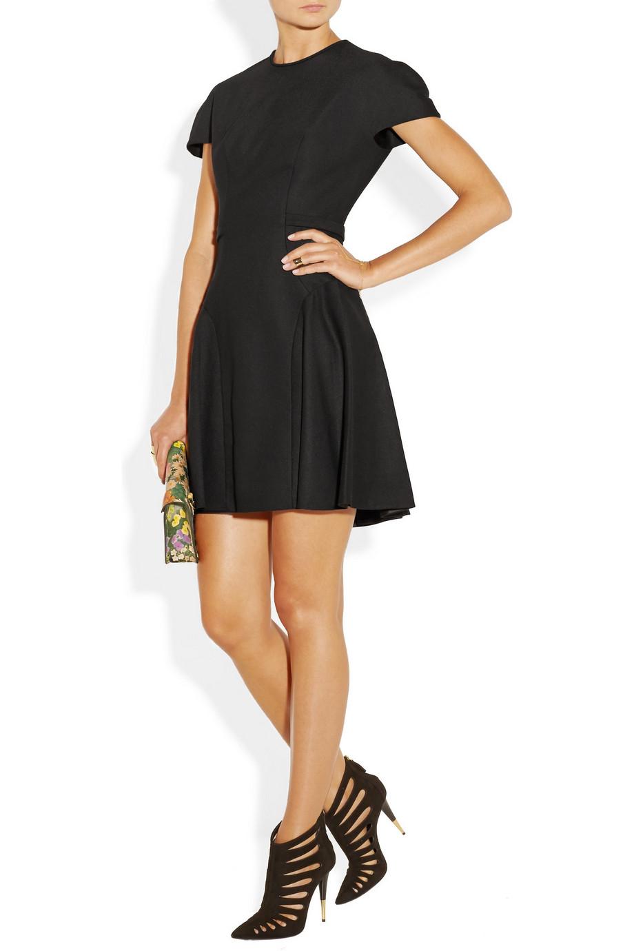 DELPOZO Twill Mini Black Dress | Day to Night Dresses for Fall