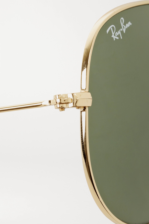 Ray-Ban 金色金属飞行员太阳镜
