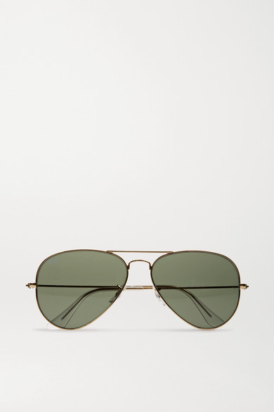 RAY BAN Ray-Ban Unisex Classic Aviator Sunglasses, 58Mm in Gold