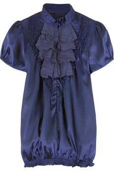 T-Bags Satin Victoriana blouse