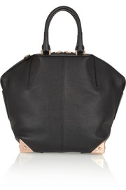 The Emile textured-leather tote