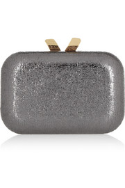 Margo Crinkle metallic box clutch