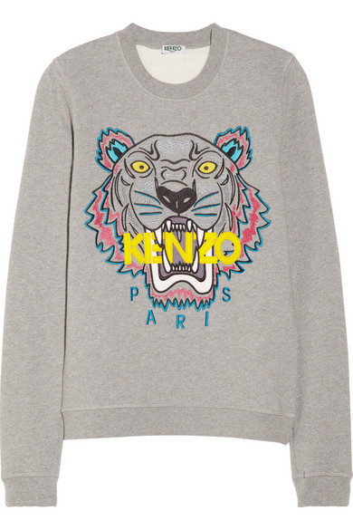 Embroidered Sweatshirt Tiger Tiger Embroidered Embroidered Sweatshirt Cotton Tiger Cotton Tiger Embroidered Cotton Sweatshirt OPZikuX